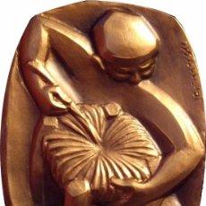 Medallas históricas: ESPAÑA. MEDALLA F.N.M.T. SERIE OFICIOS -SILLERO-. 1.984. BRONCE. Lote 79634841