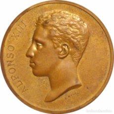 Medallas históricas: ALFONSO XIII. MEDALLA DE LA VISITA A LA CASA DE LA MONEDA. MADRID 1.904. Lote 80354041