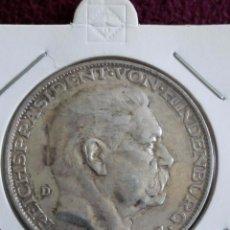 Medallas históricas: EXCELENTE MEDALLA CANCILLER VON HINDENBURG 1847-1927 ALEMANIA 25 GRAMOS 36 MM. 80 ANIVERSARIO. Lote 81032396