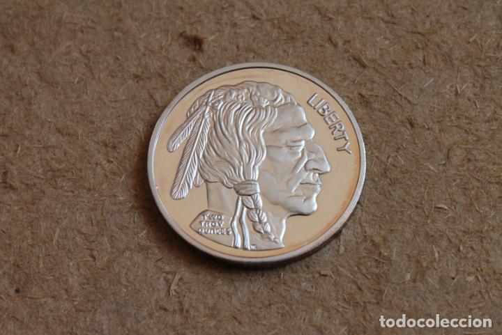 Medallas históricas: Medalla de plata Big Nickel 999 Fine Silver. Liberty. Two troy Dunces.Dos onzas. - Foto 2 - 83120556