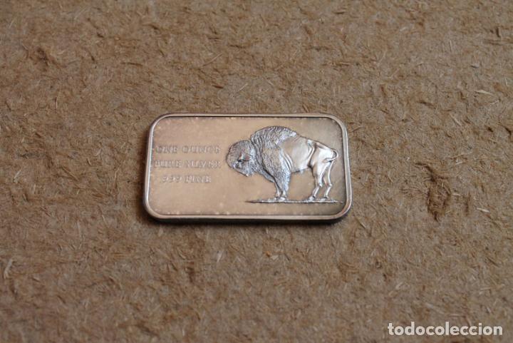 MEDALLA DE UNA ONZA DE PLATA. AMERICA BI-CENTENNIAL. 1776-1976. (Numismática - Medallería - Histórica)