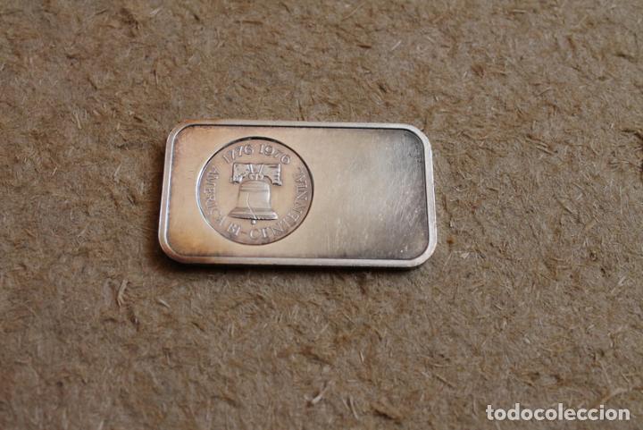 Medallas históricas: Medalla de una onza de plata. America Bi-centennial. 1776-1976. - Foto 2 - 83291320