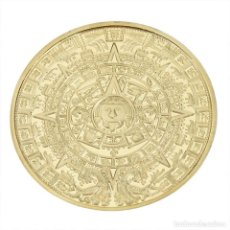 Medallas históricas: MONEDA CONMEMORATIVA - PROFECIA MAYA - CALENDARIO LARGO MAYA - ENCAPSULADA. Lote 83906684