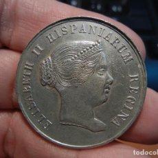 Medallas históricas: MEDALLA DE LA VISITA DE LA REINA ISABEL II A SEVILLA.1862.. Lote 84340280