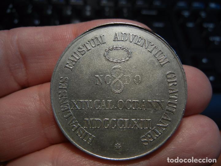 Medallas históricas: Medalla de la visita de la Reina Isabel II a Sevilla.1862. - Foto 3 - 84340280