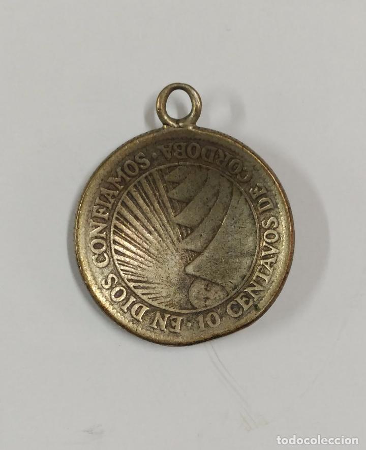Medallas históricas: MEDALLA DE LA REPUBLICA DE NICARAGUA 1928 10 CENTAVOS DE CORDOBA EN DIOS CONFIAMOS - Foto 2 - 84735132