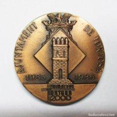 Medallas históricas: TORTOSA (TARRAGONA). MEDALLA DEL BIMILENARIO DE LA CIUDAD 1985-1986. Lote 85743972