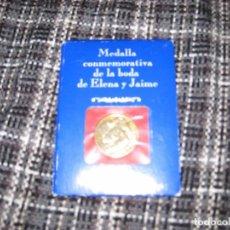Medallas históricas: MEDALLA BODA ELENA Y JAIME. 1995.. Lote 86434536