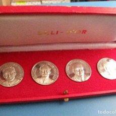 Medallas históricas: ESTUCHE CON 4 MEDALLAS DE PLATA DE LOS PRESIDENTS DE LA GENERALITAT DE CATALUNYA - COMPANYS-MACIA-. Lote 86942992