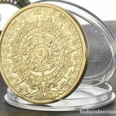 Medallas históricas: MONEDA PROFECIA MAYA CALENDARIO LARGO MAYA - ENCAPSULADA. Lote 92896423