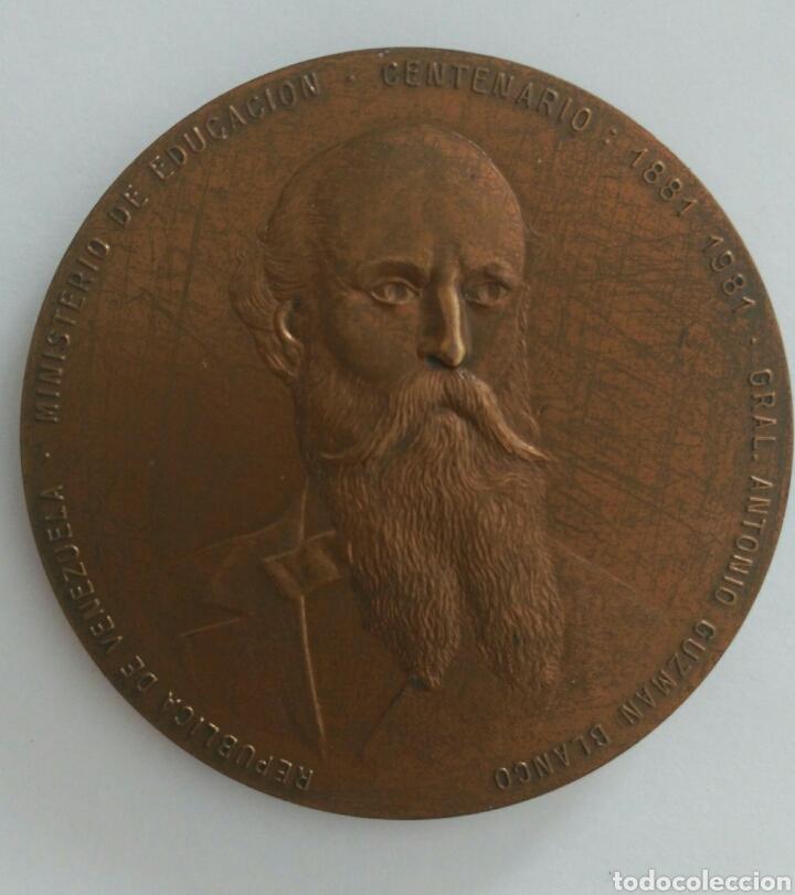 Medallas históricas: Medalla Centenario. Presidente Gral Antonio Guzmán Blanco. Ministerio de Educación Venezuela 1981 - Foto 3 - 88319392