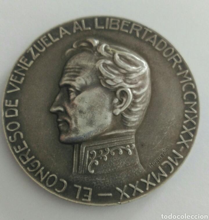 MEDALLA CENTENARIO DE LA MUERTE DEL LIBERTADOR SIMÓN BOLÍVAR POR EL CONGRESO DE VENEZUELA 1930 (Numismática - Medallería - Histórica)