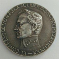 Medallas históricas: MEDALLA CENTENARIO DE LA MUERTE DEL LIBERTADOR SIMÓN BOLÍVAR POR EL CONGRESO DE VENEZUELA 1930. Lote 88327424