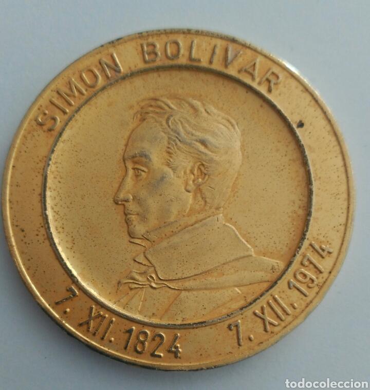 Medallas históricas: MEDALLA DEL SESQUICENTENARIO DEL CONGRESO ANFICTIÓNICO DE PANAMÁ 1974. VENEZUELA - Foto 3 - 88792578
