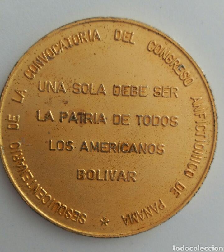 Medallas históricas: MEDALLA DEL SESQUICENTENARIO DEL CONGRESO ANFICTIÓNICO DE PANAMÁ 1974. VENEZUELA - Foto 4 - 88792578