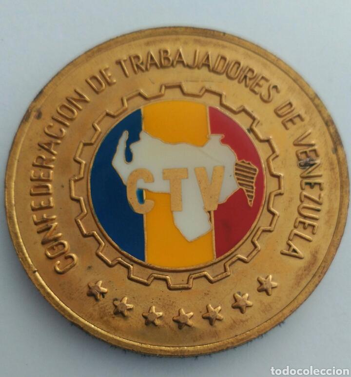 MEDALLA DEL 50 ANIVERSARIO DE LA CONFEDERACIÓN DE TRABAJADORES DE VENEZUELA. C.T.V. 1986 (Numismática - Medallería - Histórica)