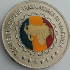 Medallas históricas: MEDALLA DEL 50 ANIVERSARIO DE LA CONFEDERACIÓN DE TRABAJADORES DE VENEZUELA. C.T.V. 1986. Lote 88797975