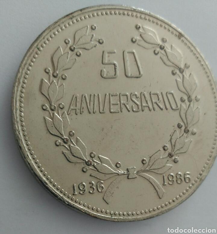 Medallas históricas: MEDALLA DEL 50 ANIVERSARIO DE LA CONFEDERACIÓN DE TRABAJADORES DE VENEZUELA. C.T.V. 1986 - Foto 2 - 88797975
