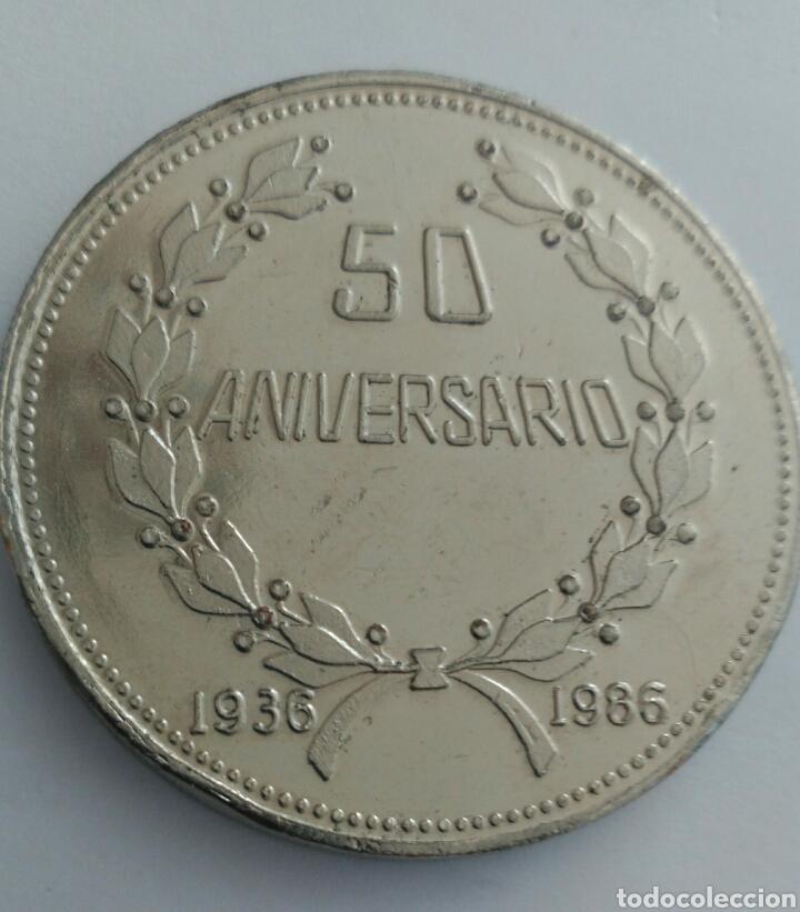 Medallas históricas: MEDALLA DEL 50 ANIVERSARIO DE LA CONFEDERACIÓN DE TRABAJADORES DE VENEZUELA. C.T.V. 1986 - Foto 4 - 88797975