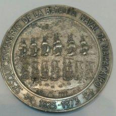 Medallas históricas: MEDALLA CONMEMORATIVA AL SESQUICENTENARIO DE LA BATALLA NAVAL DE MARACAIBO EN VENEZUELA. Lote 88886522