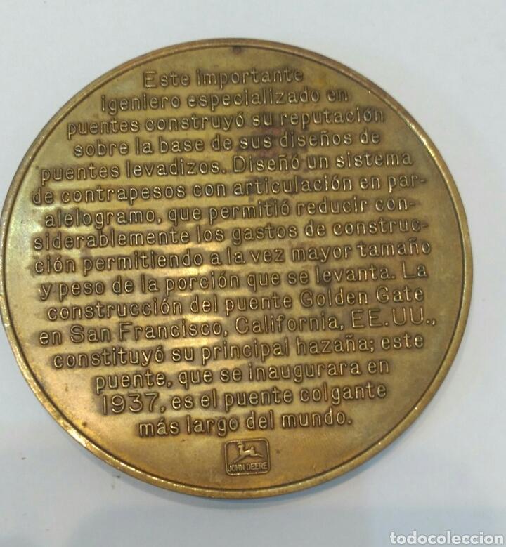 Medallas históricas: MEDALLA CONMEMORATIVA A JOSEPH B. STRAUSS, INGENIERO QUE CONSTRUYÓ EL FAMOSO PUENTE GOLDEN GATE - Foto 2 - 88953936
