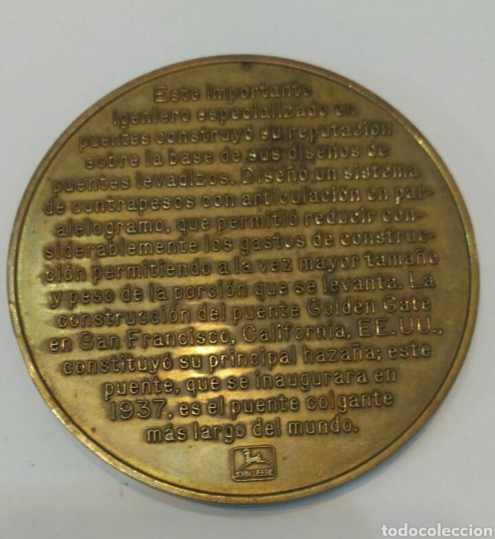 Medallas históricas: MEDALLA CONMEMORATIVA A JOSEPH B. STRAUSS, INGENIERO QUE CONSTRUYÓ EL FAMOSO PUENTE GOLDEN GATE - Foto 6 - 88953936