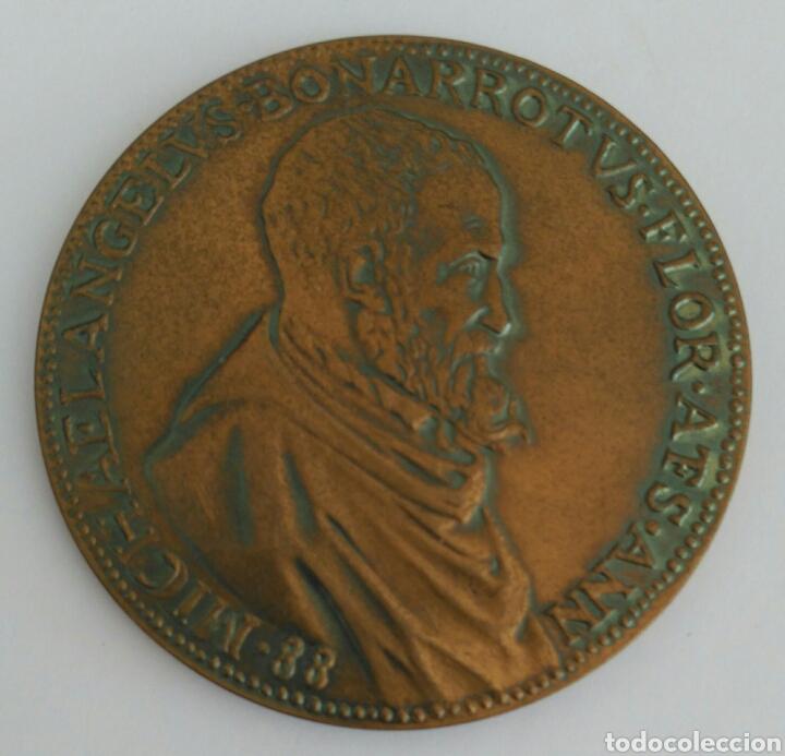 MEDALLA DE LA UNESCO DE MIGUEL ANGEL BUONARROTI. 1A EDICIÓN 1974 (Numismática - Medallería - Histórica)