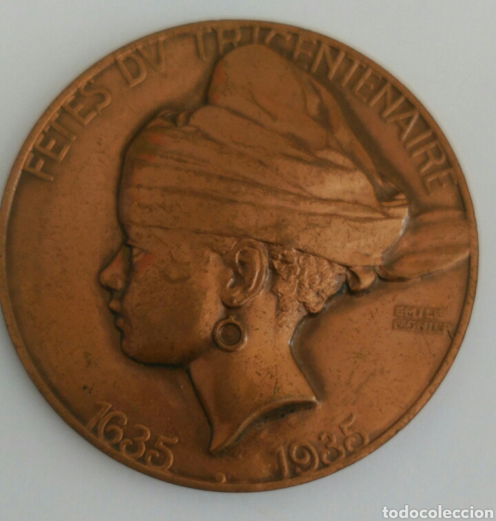 Medallas históricas: MEDALLA FETES DV TRICENTENAIRE LA GUYANE PROVINCE FRANCAISE 1935 TRICENTENARIO GUAYANA PROV. FRANCIA - Foto 4 - 89822555