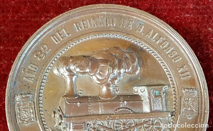 Medallas históricas: MEDALLA DE BRONCE. INAUGURACIÓN DEL FERROCARRIL DE CANFRANC. OCTUBRE DE 1882. - Foto 5 - 90709275