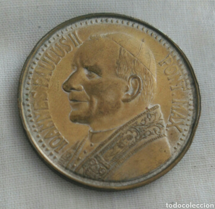MEDALLA JUAN PABLO II. VIRGEN DE CZESTOCHOWA. POLONIA. LA VIRGEN NEGRA (Numismática - Medallería - Histórica)