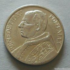 Medallas históricas: MEDALLA PAPA BENEDICTO XV. PONT MAX. Lote 90873619