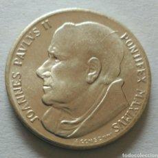 Medallas históricas: MEDALLA JUAN PABLO II PONTIFEX MAXIMUS DE A. CONSONNI. Lote 90876182