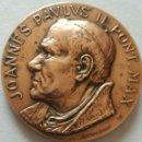 Medallas históricas: MEDALLA JUAN PABLO II EN VENEZUELA. DE A. CONSONNI. RENUEVA TU FE. JOANNES PAULUS II PONT MAX. Lote 90876539
