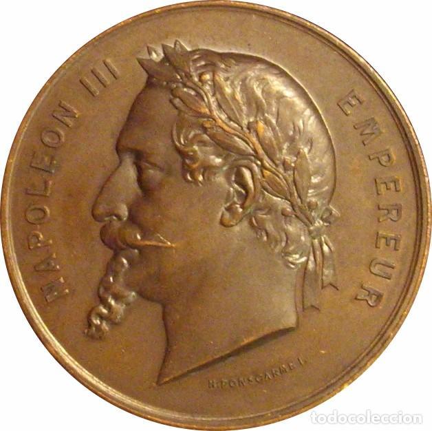 FRANCIA. NAPOLEÓN III. MEDALLA DE LA EXPOSICIÓN UNIVERSAL DE PARÍS. 1.867 (1) (Numismática - Medallería - Histórica)