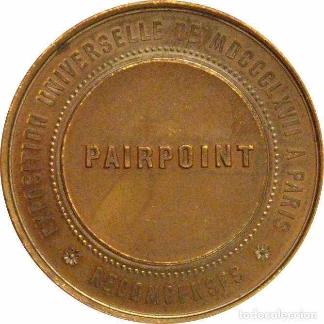 Medallas históricas: FRANCIA. NAPOLEÓN III. MEDALLA DE LA EXPOSICIÓN UNIVERSAL DE PARÍS. 1.867 (1) - Foto 2 - 257331475