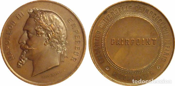 Medallas históricas: FRANCIA. NAPOLEÓN III. MEDALLA DE LA EXPOSICIÓN UNIVERSAL DE PARÍS. 1.867 (1) - Foto 3 - 257331475