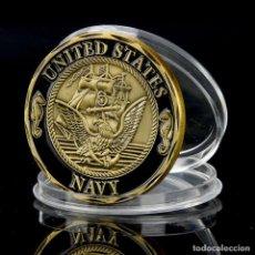 Medallas históricas: MONEDA CONMEMORATIVA - ARMADA DE LOS ESTADOS UNIDOS - NAVY - SHELLBACK - CROSSING THE LINE. Lote 91391805