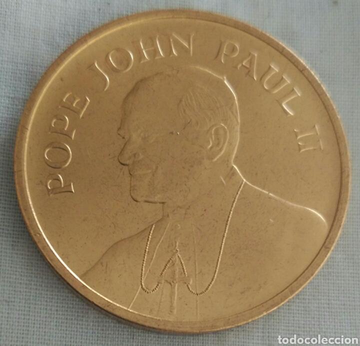 MEDALLA PAPA JUAN PABLO II VISITA A USA EN 1987. POPE JOHN PAUL II. PAPAL VISIT (Numismática - Medallería - Histórica)