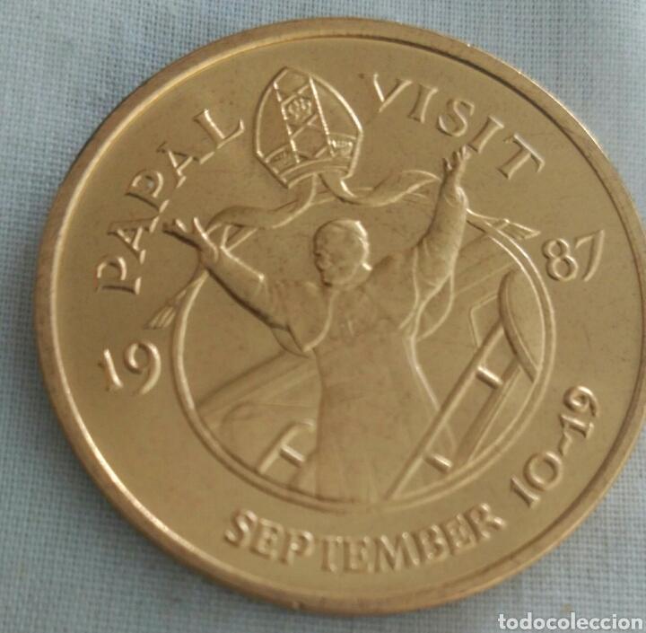 Medallas históricas: MEDALLA PAPA JUAN PABLO II VISITA A USA EN 1987. POPE JOHN PAUL II. PAPAL VISIT - Foto 2 - 91430784