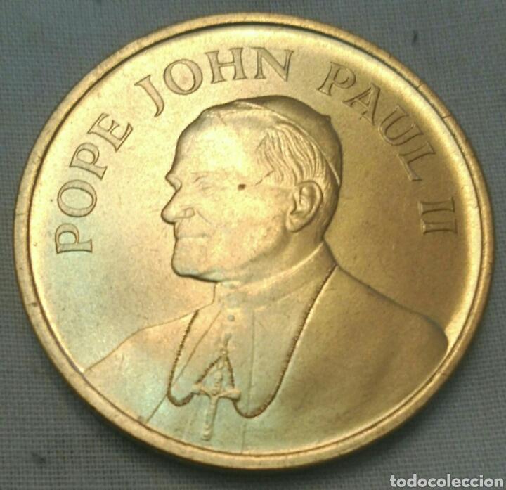 Medallas históricas: MEDALLA PAPA JUAN PABLO II VISITA A USA EN 1987. POPE JOHN PAUL II. PAPAL VISIT - Foto 3 - 91430784