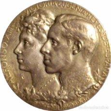 Medallas históricas: ESPAÑA. ALFONSO XIII. MEDALLA DE LA BODA REAL CON VICTORIA EUGENIA. 1.906. PLATA. Lote 91506140