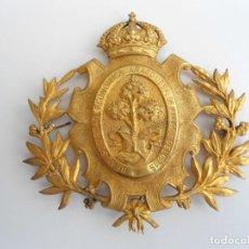 Medallas históricas: ESCUDO DE LA REAL SOCIEDAD ECONOMICA ARAGONESA DE AMIGOS DEL PAIS - 1885 - RARA. Lote 91971670