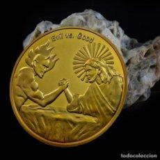 Medallas históricas: MONEDA - MEDALLA CONMEMORATIVA - EVIL VS GOOD - IN GOD WE TRUST - ((ATENCION CAPSULA PROTECTORA ROTA. Lote 92802080