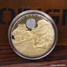 Medallas históricas: MONEDA - MEDALLA CONMEMORATIVA - MERITOS FRANCOTIRADOR - PUEDES CORRER PERO SOLO PARA MORIR CANSADO. Lote 92803270