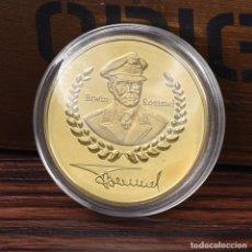 Medallas históricas: MONEDA - MEDALLA CONMEMORATIVA - ERWIN ROMMEL - ZORRO DEL DESIERTO - DEUTSHE WEHRMACHT - 1892 / 1944. Lote 92804810