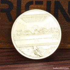 Medallas históricas: MONEDA - MEDALLA CONMEMORATIVA - CRISTO JESUS - LA ULTIMA CENA - IMAGENES HISTORICAS. Lote 92805370