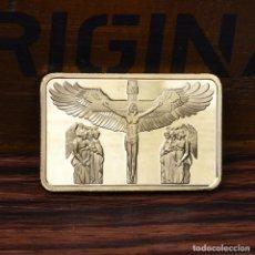 Medallas históricas: LINGOTE - LOS 10 MANDAMIENTOS Y CRUCIFICCION DE JESUS. Lote 92805740