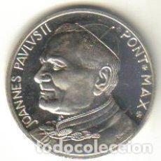Medallas históricas: MEDALLA DE PLATA PAPA JUAN PABLO II - REVERSO IMAGEN DE CRISTO CON INSCRIPCION PAX VOBISCUM -ESCASA . Lote 93815015
