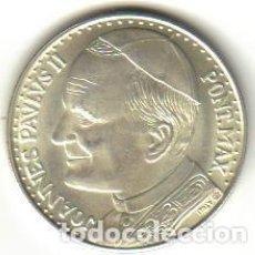Medallas históricas: MEDALLA DE PLATA PAPA JUAN PABLO II - REVERSO S. MASSIMILIANO M. KOLBE. Lote 93903895
