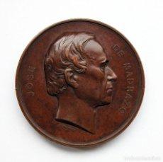 Medallas históricas: MEDALLA DE COBRE CONMEMORATIVA DE JOSÉ DE MADRAZO. SANTANDER. Lote 93971140